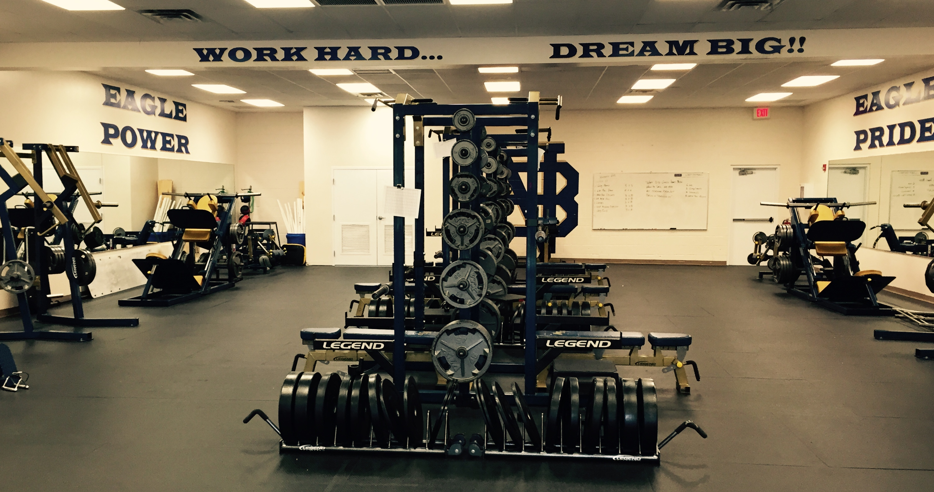 North Broward Prepatory Schools Weight Room